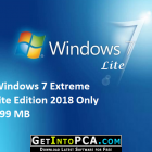 Windows 7 Extreme Lite Edition 2018 Only 999 MB Free Download