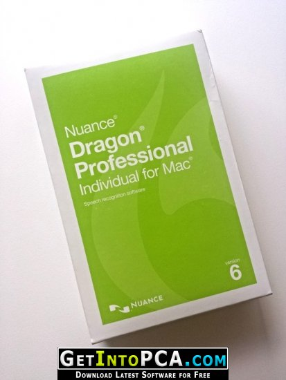 Nuance Dragon Professional Individual 6 Free Download MacOS